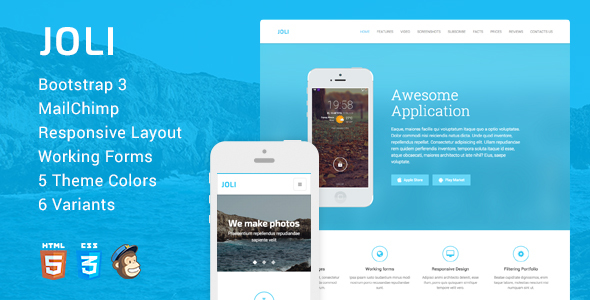 JOLI – Responsive Multi-Purpose Landing Page Template (Creative) images