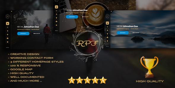 RPF - Creative Responsive Personal Resume / Portfolio
