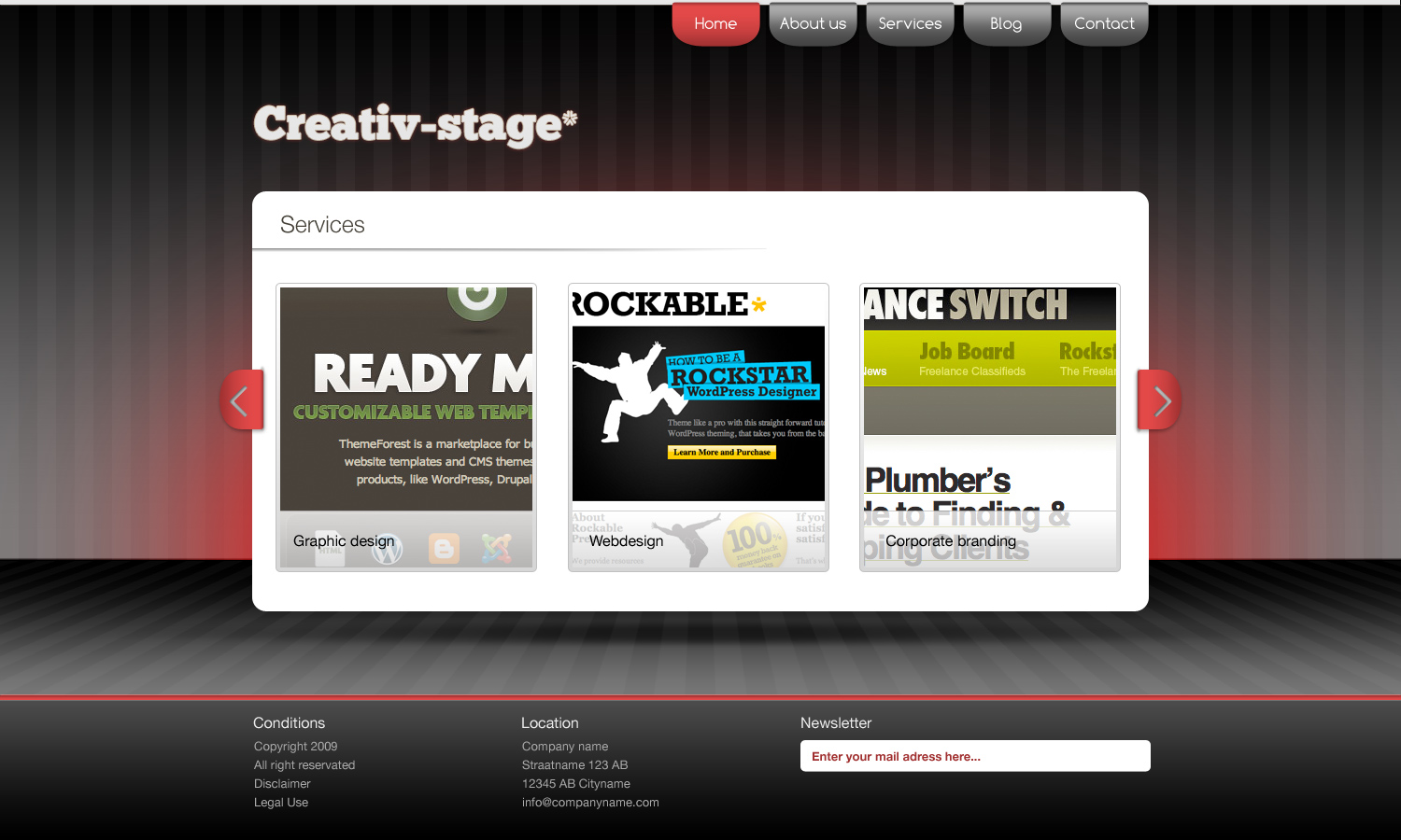 Creativ Stage* - HTML/CSS