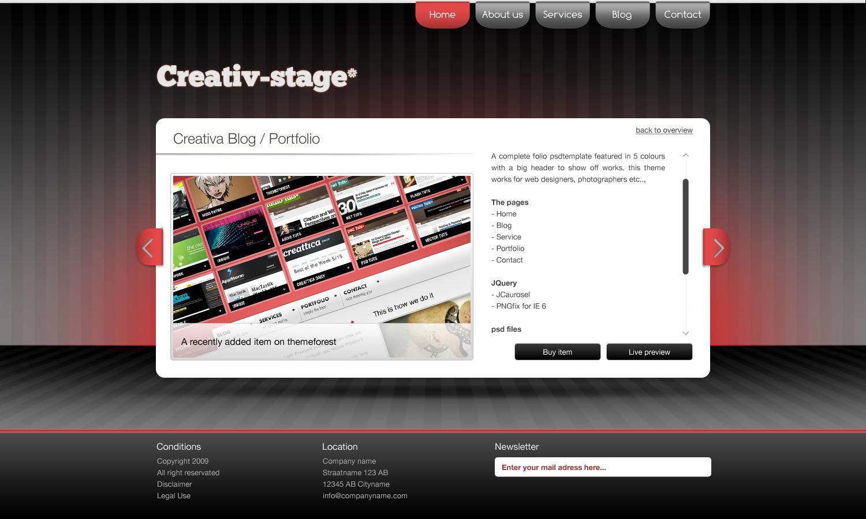 Creativ Stage* - HTML/CSS