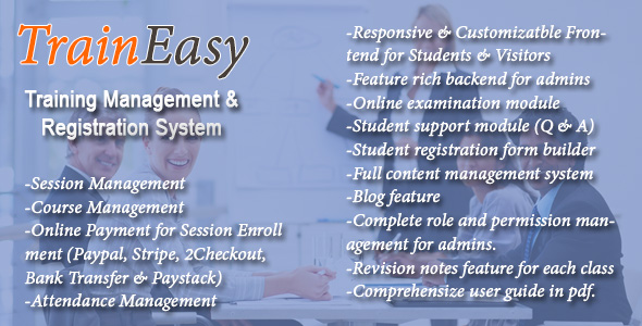 Codecanyon TrainEasy - Training Management & Registration System 19457888