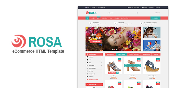 Rosa - Responsive eCommerce Template
