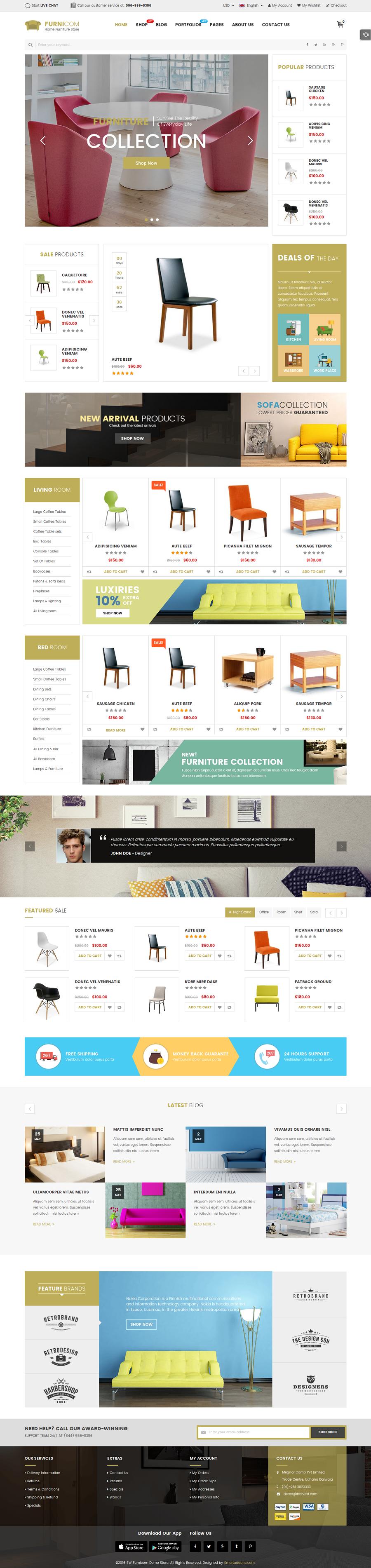 Furnicom Responsive Furniture Woocommerce Wordpress Theme By Magentech