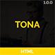 TONA - Personal vCard Resume HTML Template