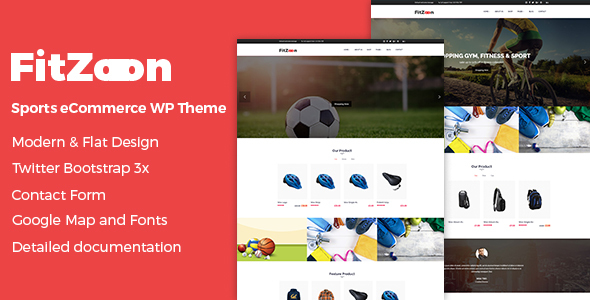 Fitzoon - Sports Store WooCommerce WordPress Theme
