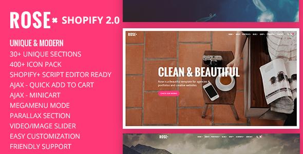 Rose - Onepage Responsive Multi-Purpose Shopify Theme