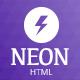 Neon Responsive App Landing Page
