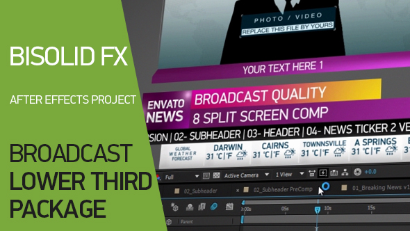 VideoHive Broadcast Lower Third Package 2 19483333