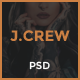 Jcrew - Multipurpose Ecommerce PSD template