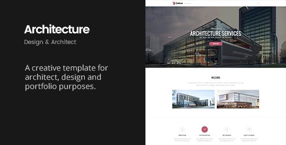 Deliver Architecture | Portfolio, Design & Architect Template