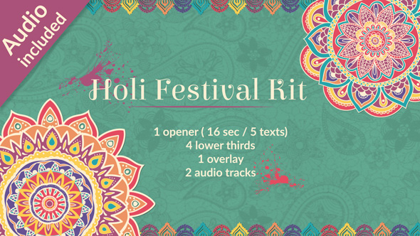 VideoHive Holi Festival of Colors Kit 19483705
