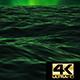 Night Green Sky Ocean 4K