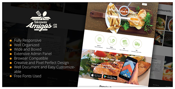Multiple Restaurant System Takeaway Amigos (PHP Scripts) images