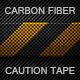 Carbon Fiber Caution Tape Texture