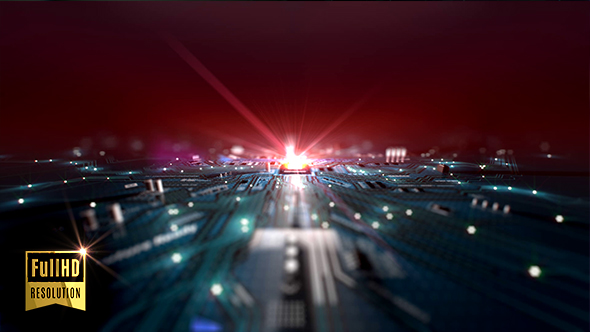 VideoHive CPU Motherboard Data Flow 19484360