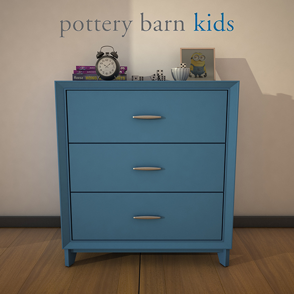 PotteryBarn-ReeseDresser - 3DOcean Item for Sale