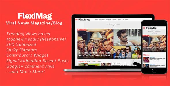 FlexiMag - Viral Blogger News Magazine / Blog Theme [for Blogspot]