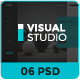 Visual Studio Website UI PSD