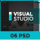 Visual Studio Website UI PSD