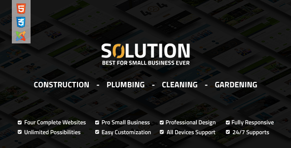 Solution - Multipurpose Small Business Joomla Theme