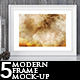 5 Modern Frame Mock-up
