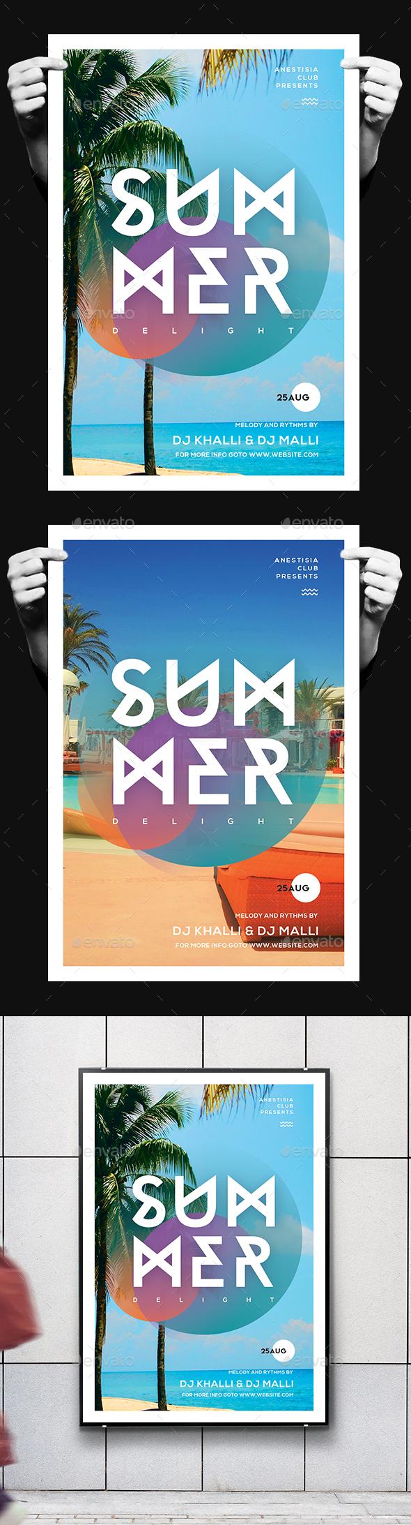 Minimal Summer Flyer