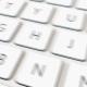 White Computer Keyboard and Hack Key