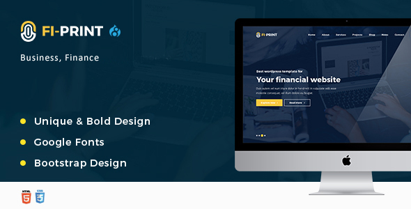 Download Fi-Print – Business, Finance, Accountant Corporate Drupal 8 Theme