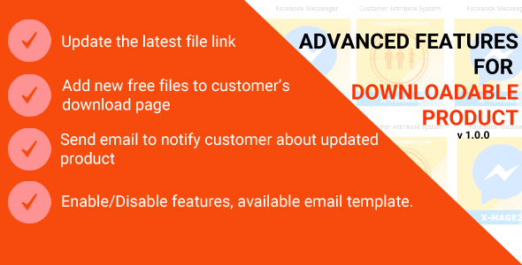 Download Magento 2 Advanced Features for Downloadable Product