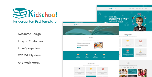Themeforest Kidschool - Kindergarten School PSD Template 19487032