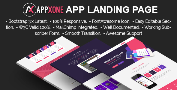 APPXONE - Apps & Digital Product Landing Template