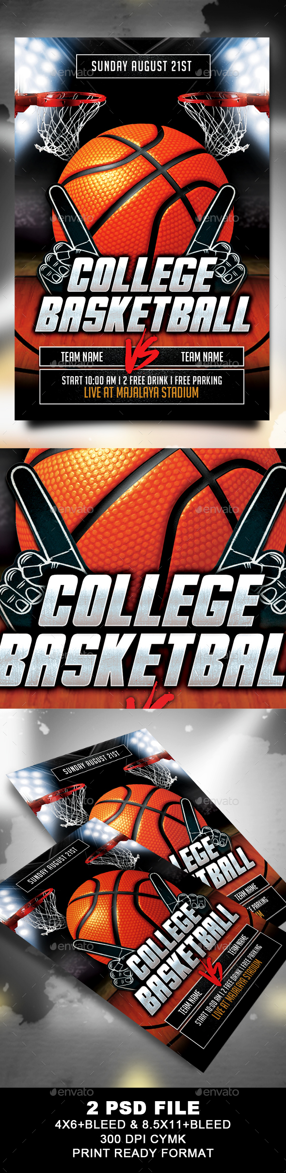 Graphicriver College Basketball Flyer 19487150