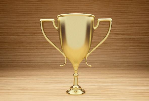 Gold Trophy Model - 3DOcean Item for Sale