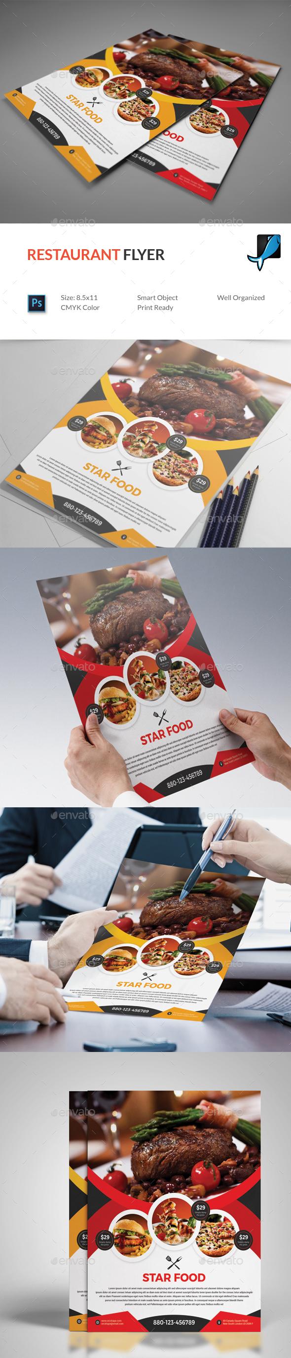 Graphicriver Restaurant Flyer 19487237