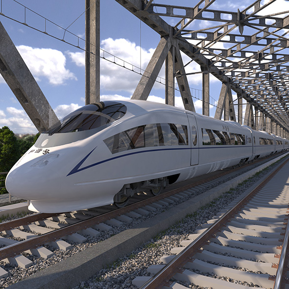 High-speed Electric Train Siemens Velaro CRH China - 3DOcean Item for Sale