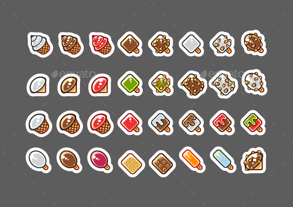 2D Ice Creams for Creating Video Games