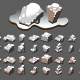 Isometric Stones with Snow for Creating Video Games