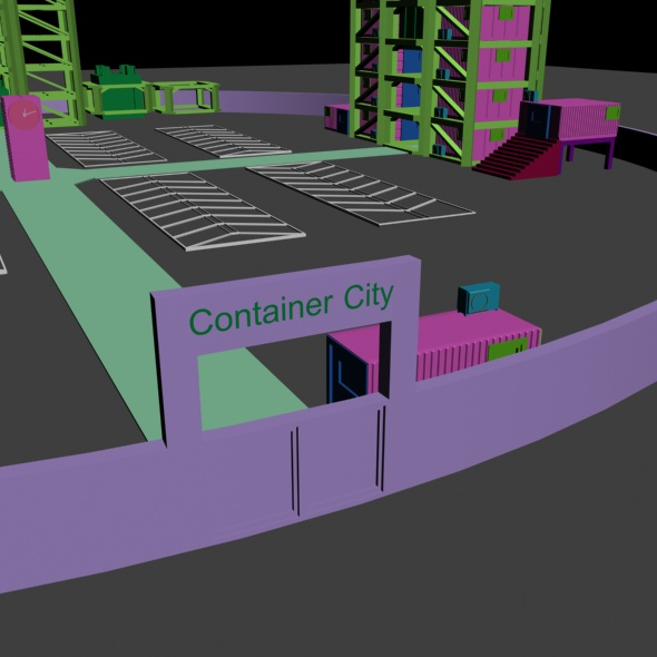 Container City - 3DOcean Item for Sale