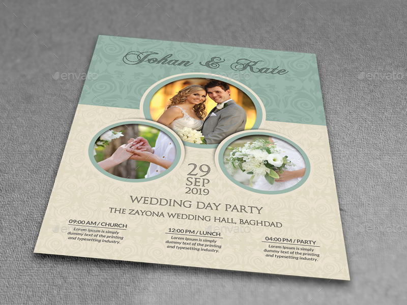 Wedding Party Flyer Template Vol6 by OWPictures – Wedding Flyer