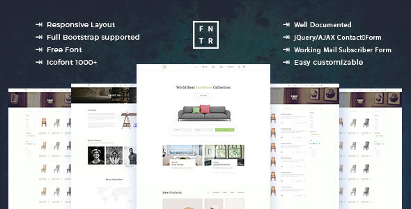 Download Furniture E-Commerce HTML Template