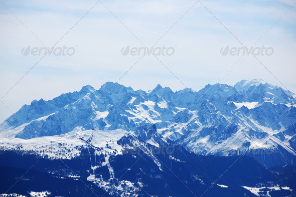 top of mountains - Stock Photo - Images