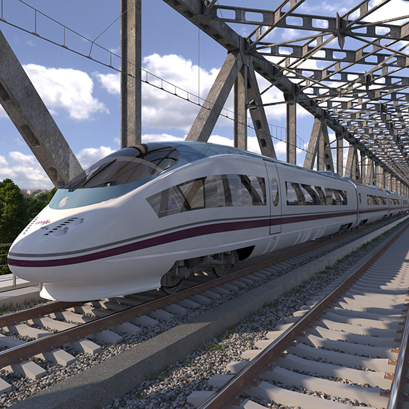 High-speed Electric Train Siemens Velaro AVE Renfe Spain - 3DOcean Item for Sale