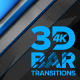 3D Bar Transitions 4K