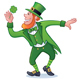 St. Patrick's Day Character with Clover