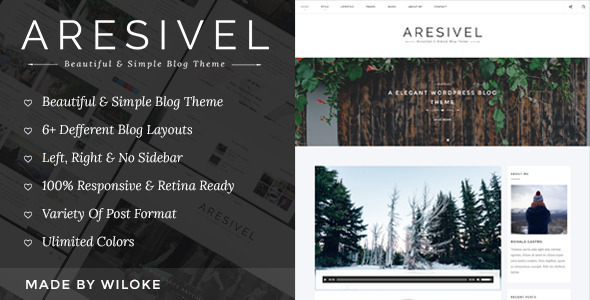 Aresivel - A Responsive WordPress Blog Theme