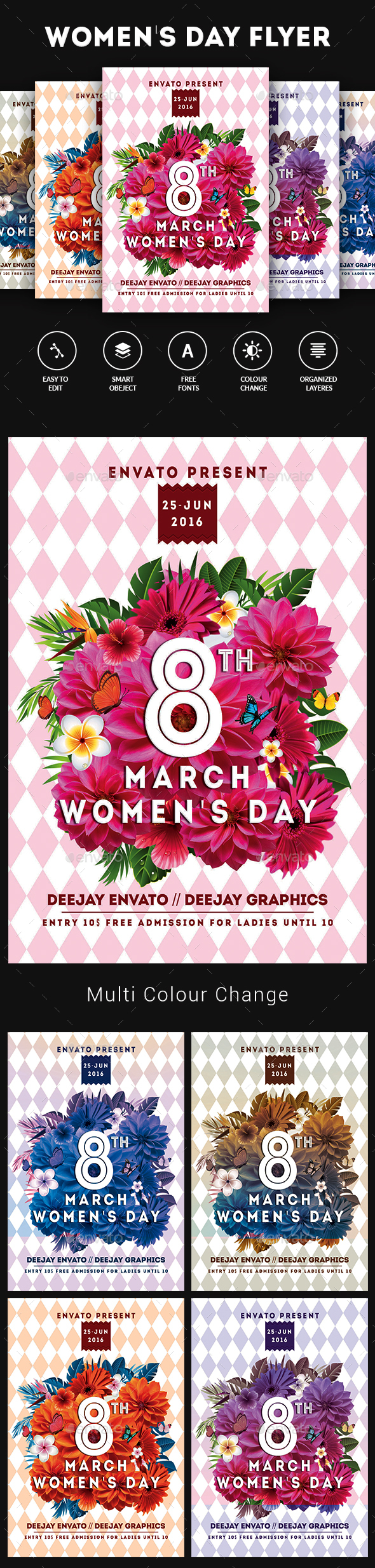Graphicriver Womens Day Flyer 19489857