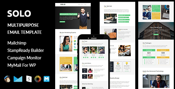 Solo - Multipurpose Responsive Email Template + Stampready Builder