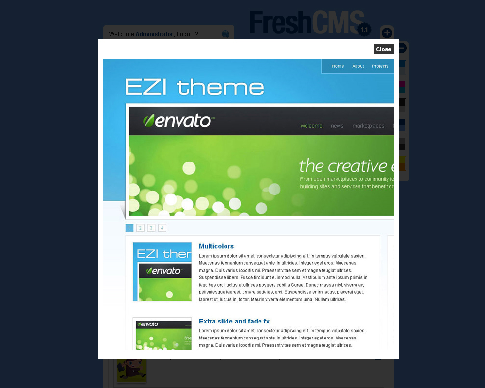FreshCMS an almost complete CMS skin - About the FreshCMS theme.