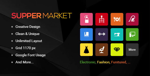Suppermarket - Responsive Magento2 Theme
