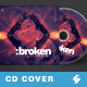 Broken Portal - Electronic Music CD Cover Artwork Template
